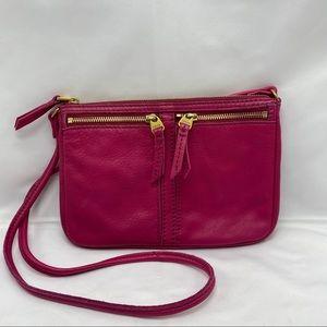 Fossil purse or crossbody in Fuchsia Pink